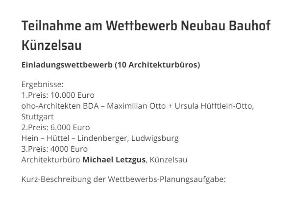 Architekten in der Nähe von  Künzelsau