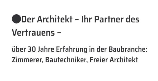 Freier Architekt